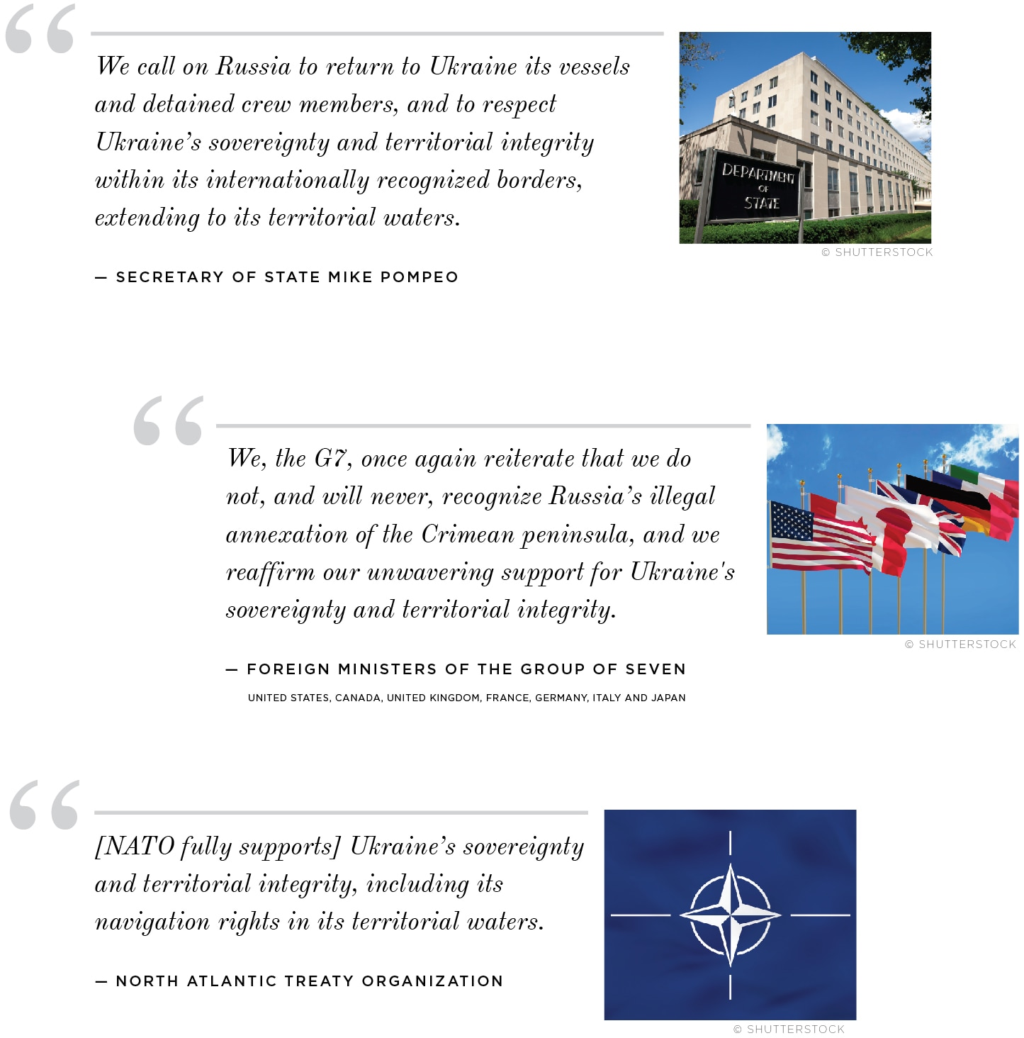 Graphic with quotes on Russian seizure of Ukrainian ships (State Dept./J. Maruszewski)
