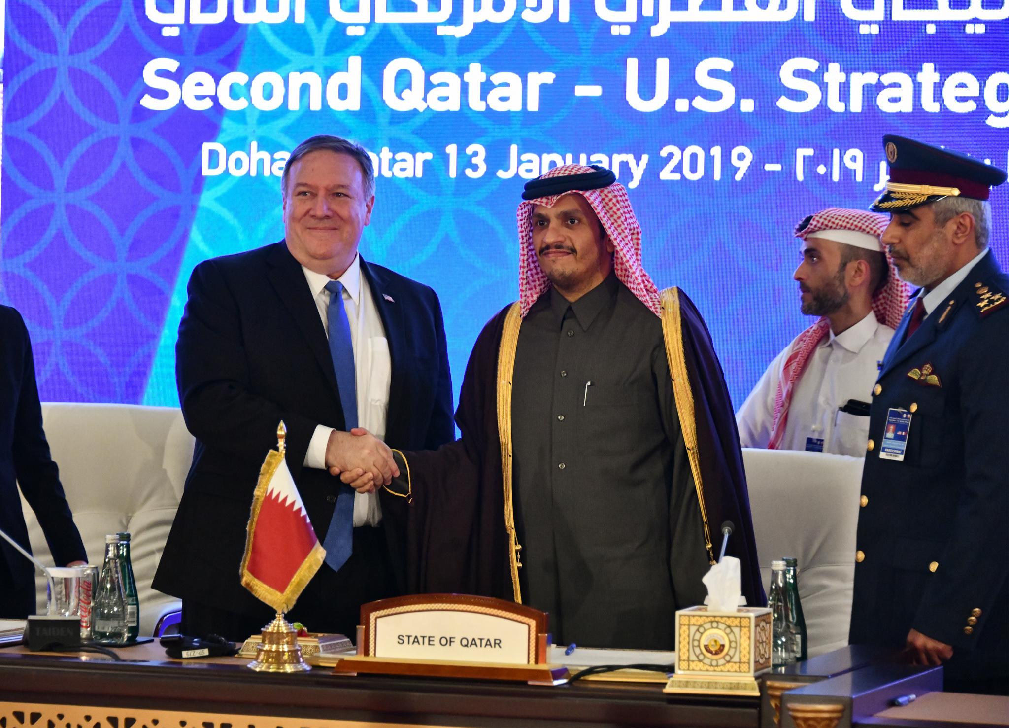 两位领导人握手(美国国务院)