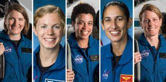 5 female astronauts (NASA)