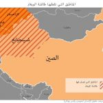 Map marked with areas of Uighur populations (Human Rights Watch)
