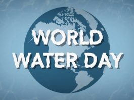 'World Water Day' overlaid on image of Earth