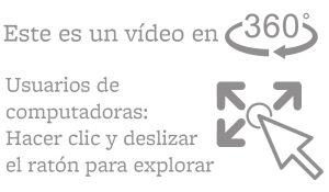 Instrucciones para usar el vídeo en 360 grados