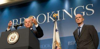 美国前副总统拜登在布鲁金斯学会演讲(Wikimedia Commons)