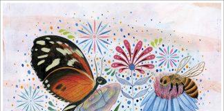 Dessin multicolore avec plusieurs pollinisateurs et la phrase « Préservons la Terre » (Département d'État)