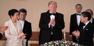 Empress Masako, Donald Trump, Emperor Naruhito applauding (Shealah Craighead/The White House)