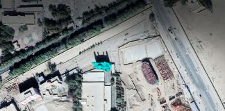 Aerial image of mosque site in China (© 2019 DigitalGlobe)