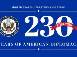 O logotipo da diplomacia americana completa 230 anos (Departamento de Estado)