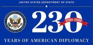 美国外交230周年标志(State Dept.)