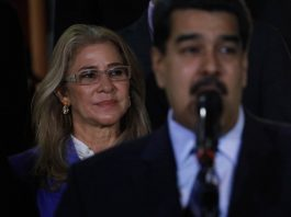 Nicolas Maduro and Cilia Flores ( © Ariana Cubillos/AP Images)