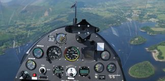Cockpit of autogyro plane (© Andrew Macdonald/Alamy)