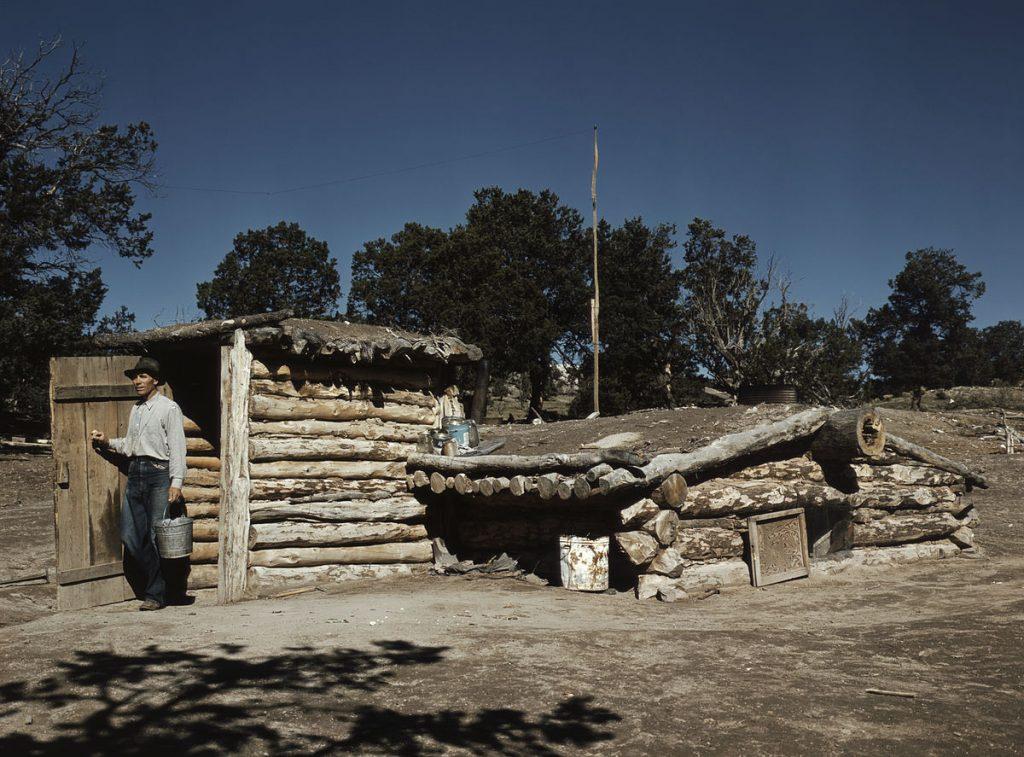 新墨西哥州的一处通过宅地法获得的家居(照片:Russell Lee)