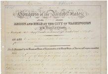 1862年宅地法原件(照片:国家档案馆)