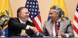 Pompeo and Moreno (© Ecuadorean Presidency/Handout/ Reuters)