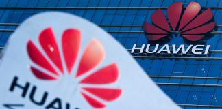 Huawei signage (©Andy Wong/AP Images)