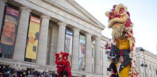 首都华盛顿的华人庆祝农历新年(照片:美联社)