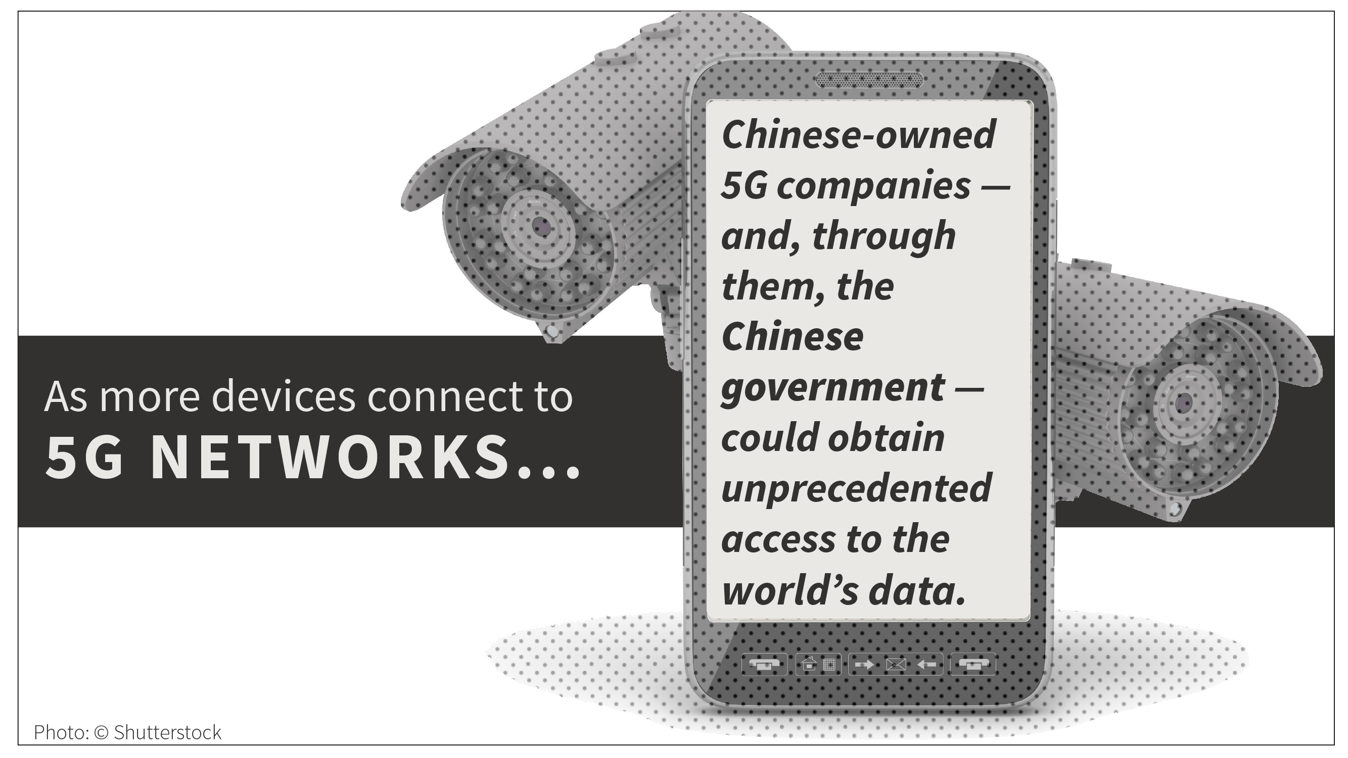 Graphic and text on implications of Chinese ownership of 5G companies (State Dept./S. Gemeny Wilkinson/Photo: © Shutterstock)