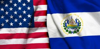 Flags of United States of America, left, and El Salvador, right (© Shutterstock)