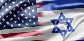 Bandera de Estados Unidos y bandera de Israel (© Ruskpp/Shutterstock)
