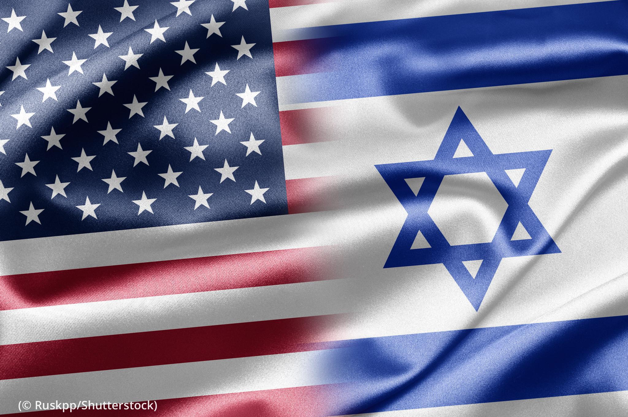 U.S. flag and Israeli flag (© Ruskpp/Shutterstock)