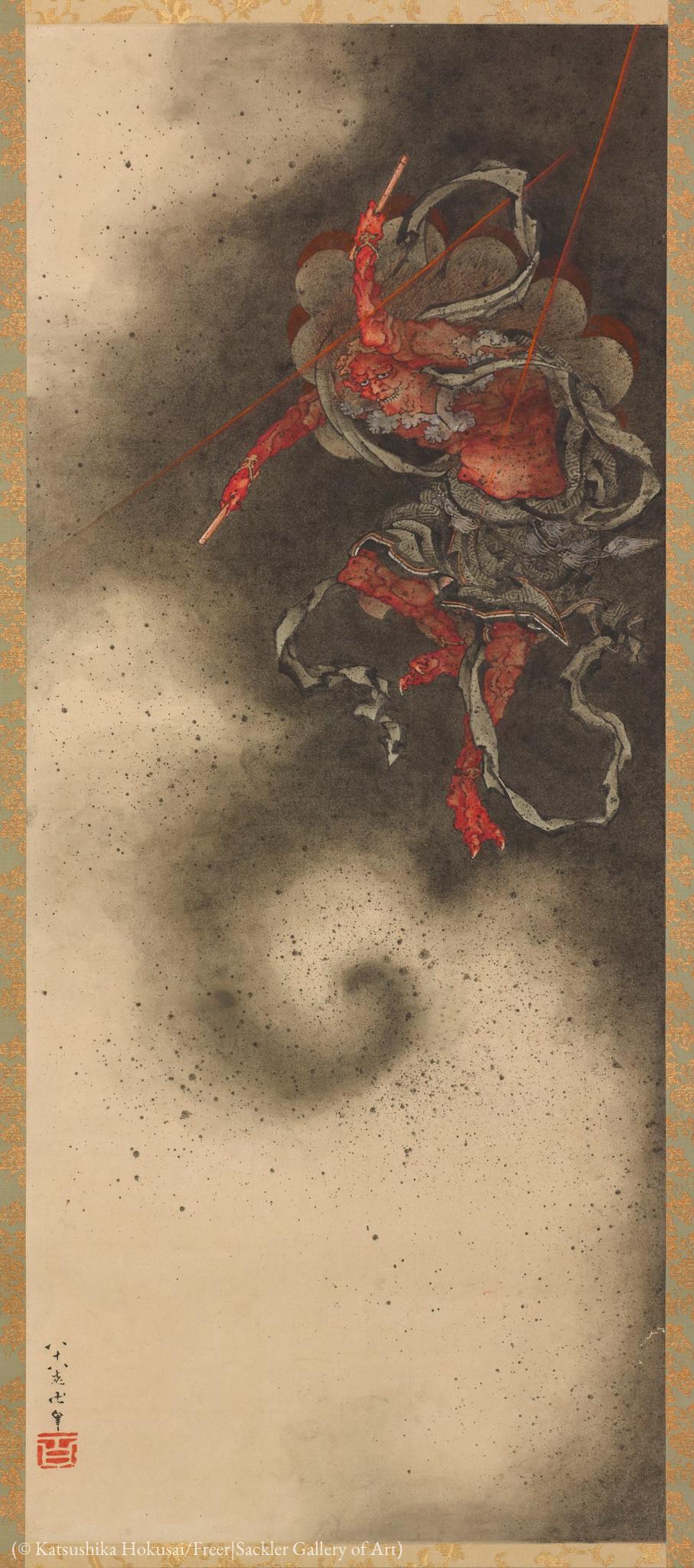 Ilustração de figura vermelha (© Katsushika Hokusai/Galeria de Arte Freer|Sackler)