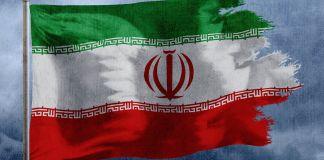 Tattered Iranian flag (State Dept.)