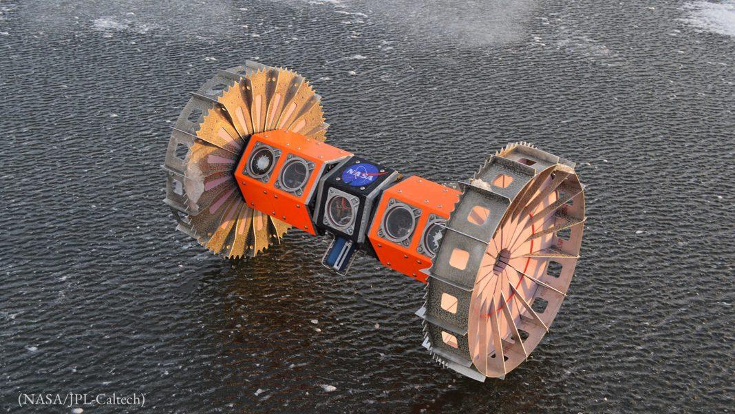 Máquina parada em uma superfície (Nasa/JPL-Caltech)