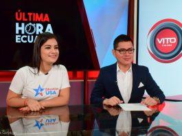 Woman and man at TV studio (© Luis Gorotiza)