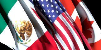 Bandeiras do México, Estados Unidos e Canadá (@ Shutterstock)
