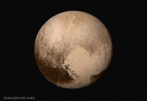 Planet against black backdrop (NASA/JHUAPL/SwRI)