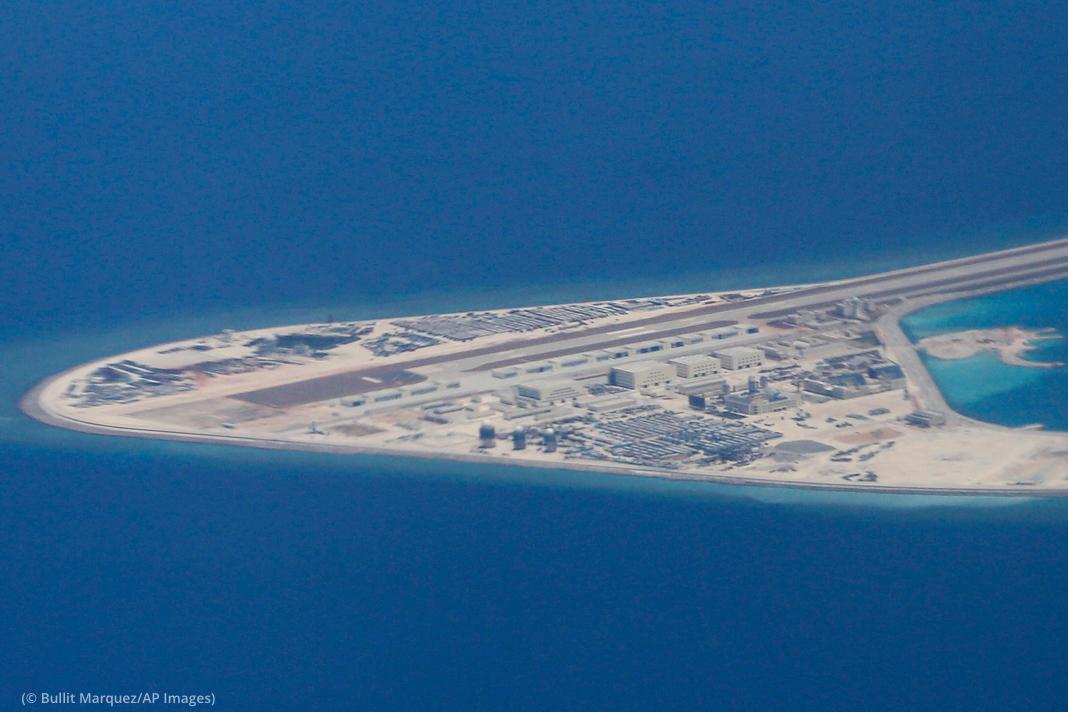 Aerial photo of artificial island (© Bullit Marquez/AP Images)