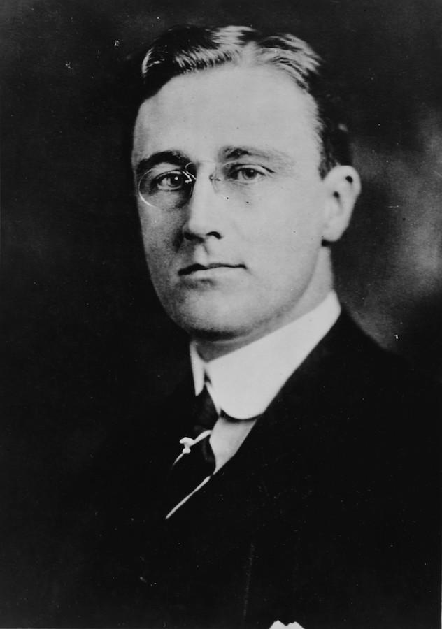 小罗斯福在威尔逊总统任期内在海军部担任要职,他在第一次世界大战当中起了重要作用。(美国海军历史网站)