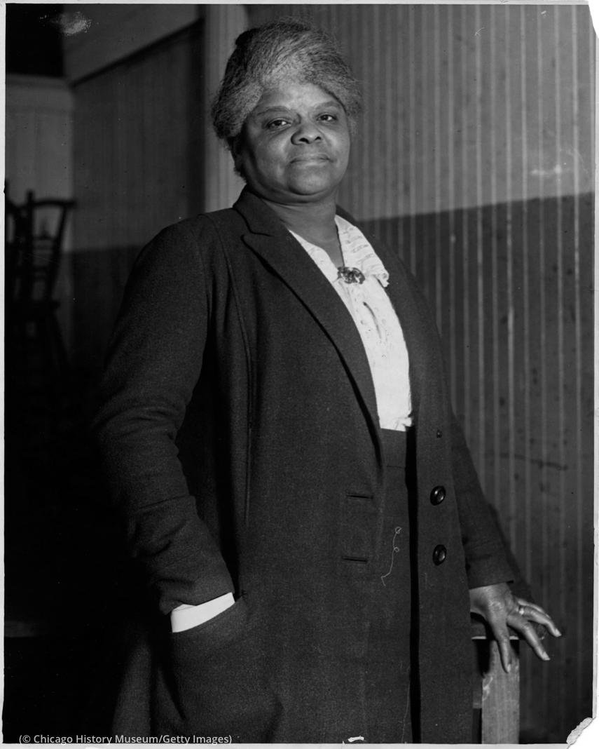 Retrato de Ida B. Wells (© Chicago History Museum/Getty Images)