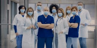 Group of health care workers