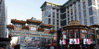 亚裔移民在美国有着悠久的历史,这是首都华盛顿的中国城牌坊。(美联社图片)