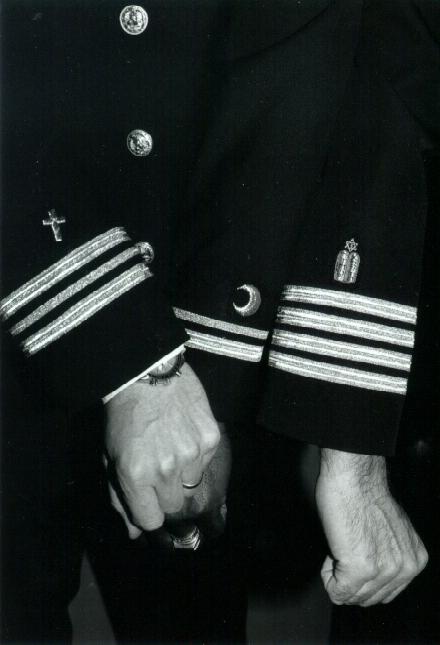 海军军牧袖标:从左至右代表基督教、伊斯兰教以及犹太教(照片:Arnold E. Resnicoff)