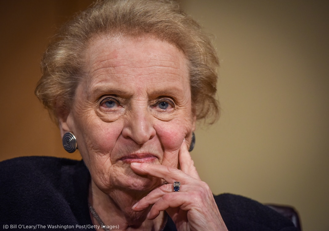 Close-up of Madeleine Albright (© Bill O'Leary/The Washington Post/Getty Images)
