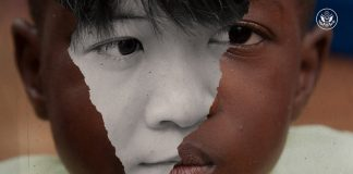 Colagem de rostos de potenciais vítimas do tráfico de pessoas