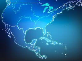 Mapa mostra EUA e Caribe (© Artalis/Shutterstock)
