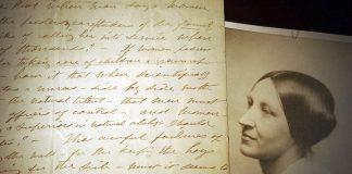 1898年苏珊·安东尼写的信件原件(照片:美联社)