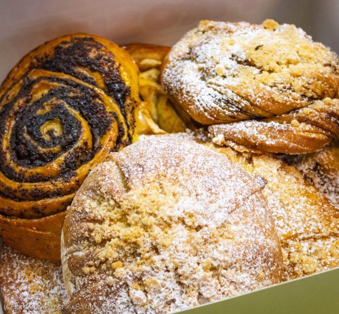 3 different kinds of pastries (© Piroshky Piroshky Bakery, LLC)