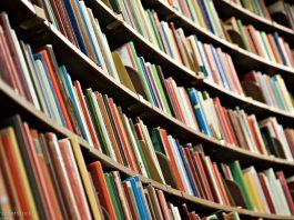 Books on shelves (© Shutterstock)