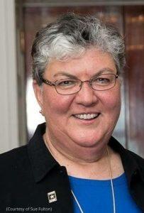 Closeup of woman smiling (Courtesy of Sue Fulton)