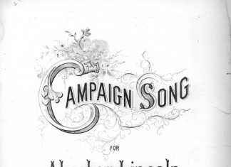 'Campaign Song' sheet music cover (Alfred Whital Stern Collection of Lincolniana/LOC)