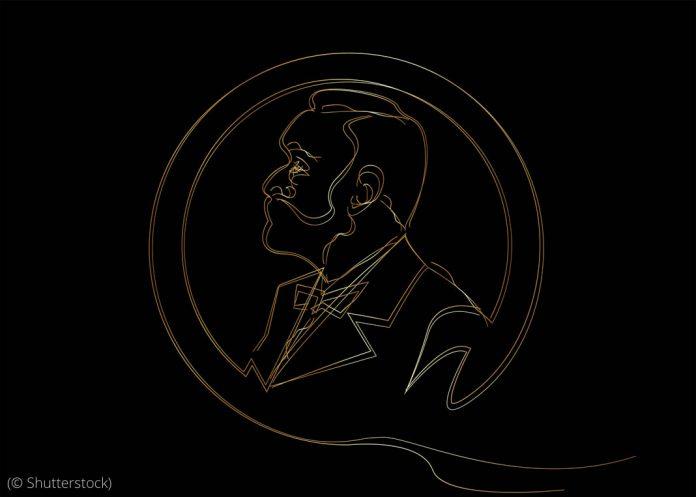 Golden line sketch of man with beard (© Shutterstock)