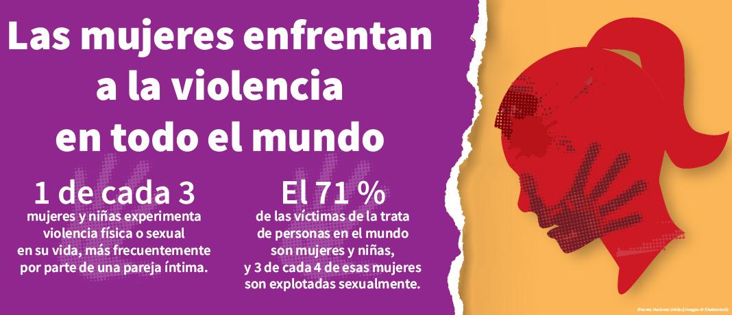 Gráfico con información sobre la violencia que enfrentan las mujeres en todo el mundo (Depto. de Estado/Buck Insley)