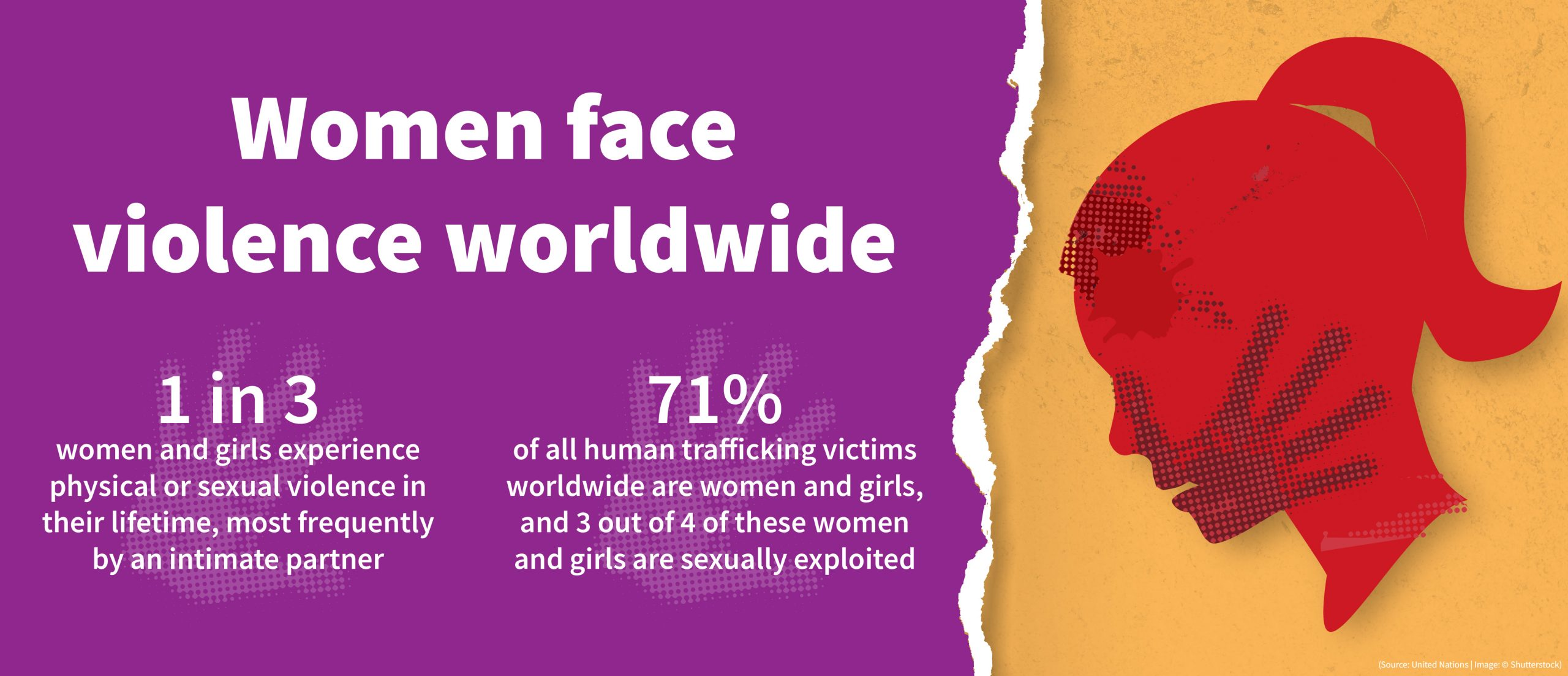 Graphic with data on violence faced by women worldwide (State Dept./Buck Insley)