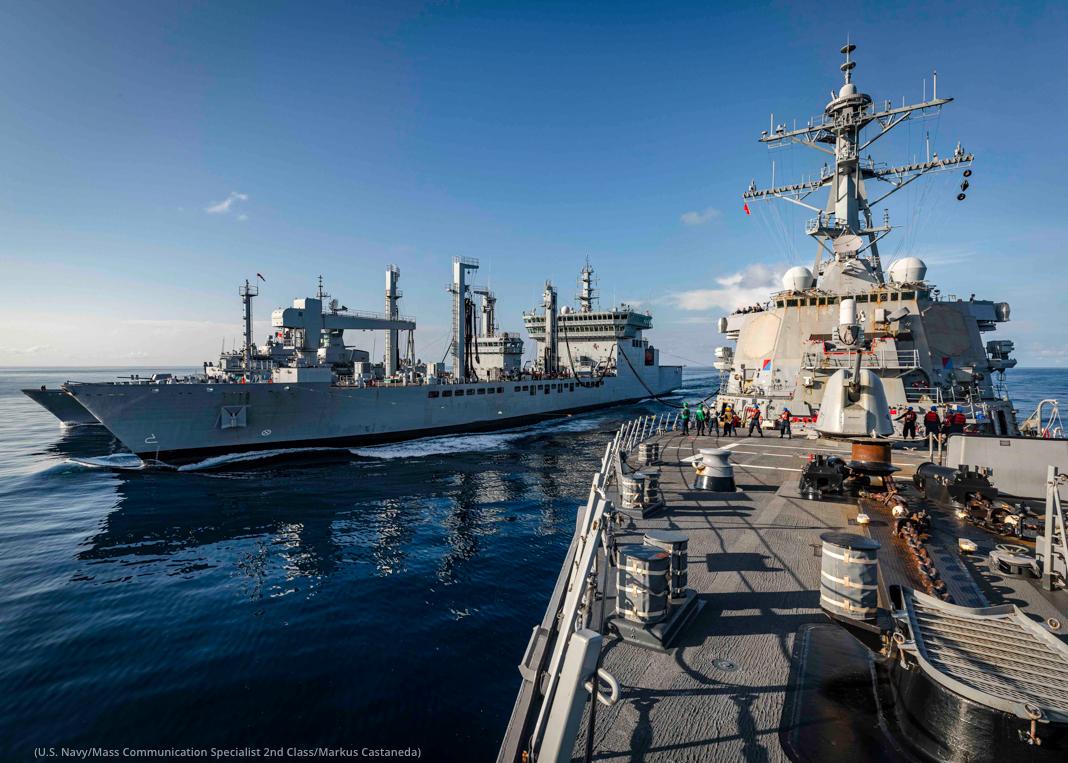 Two navy ships (U.S. Navy/Mass Communication Specialist 2nd Class/Markus Castaneda)