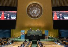 Chinese President Xi Jinping's addressing the United Nations (United Nations)