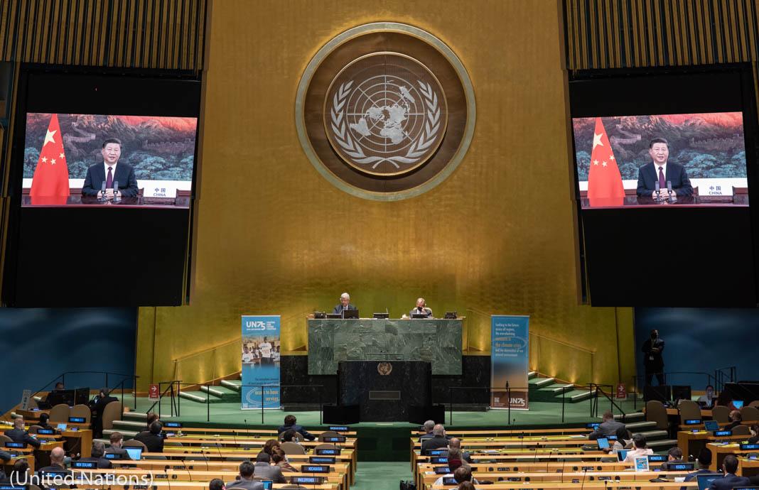 O presidente chinês, Xi Jinping, discursa nas Nações Unidas (Nações Unidas)