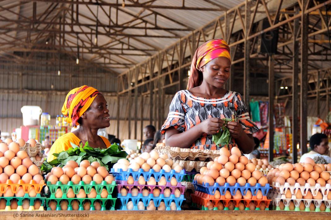 Women in Africa selling eggs (© Sarine Arslanian/Shutterstock)